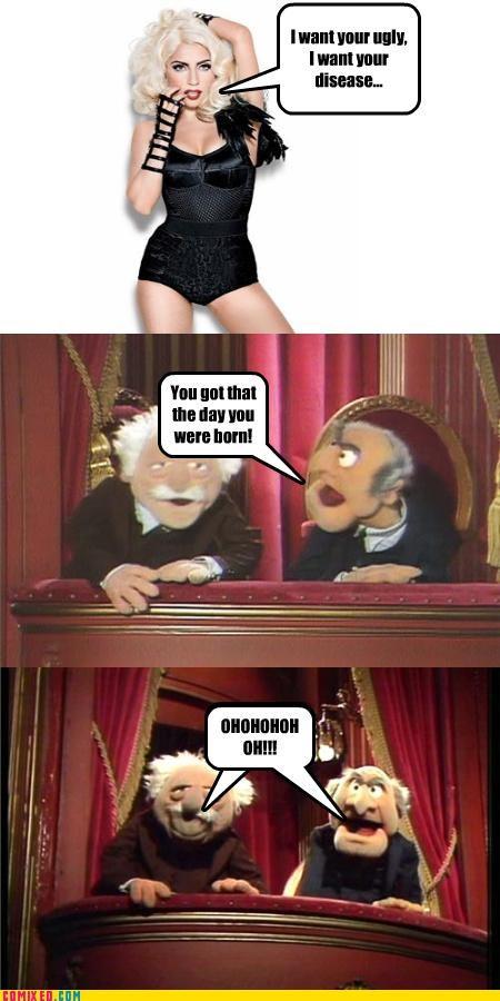 celebutard disease lady gaga muppets ugly - 4704927744