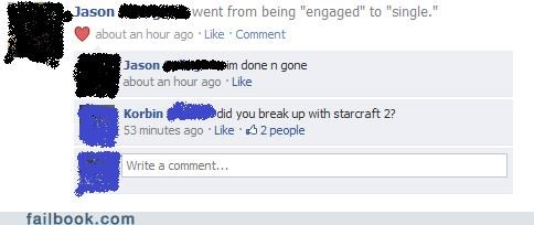 relationships,engaged,starcraft 2,breakups