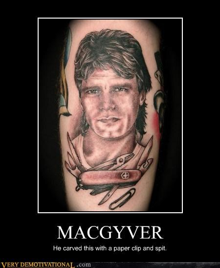 macgyver,swiss army knife,tattoo