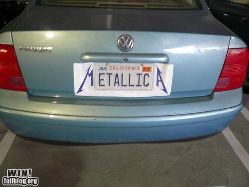 license plate metal metallica Music - 4705589760
