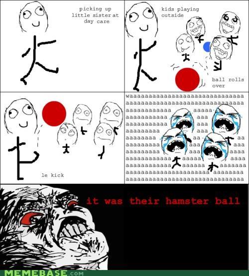 ball hamster kick kids Rage Comics - 4705652224