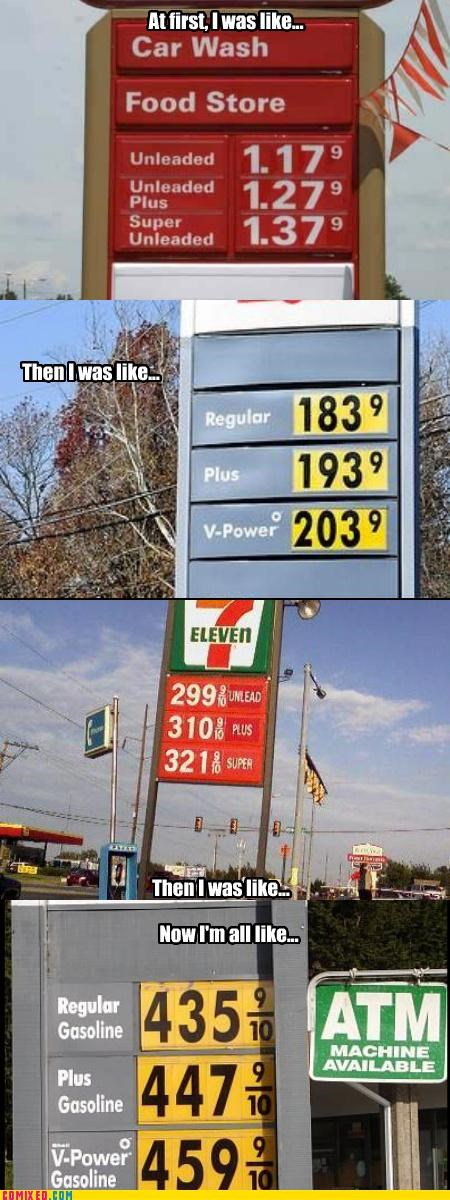 but then i expensive gas station prices
