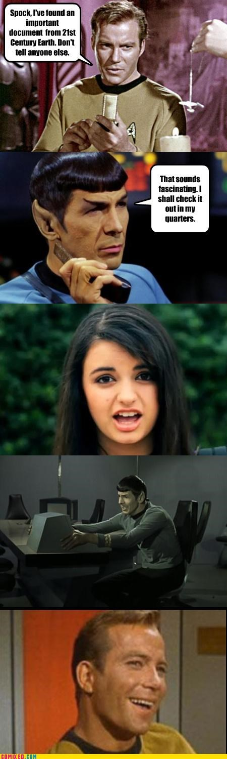 FRIDAY,kirk,Rebecca Black,Spock,Star Trek