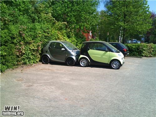 cars cute parking smart car - 4706429440