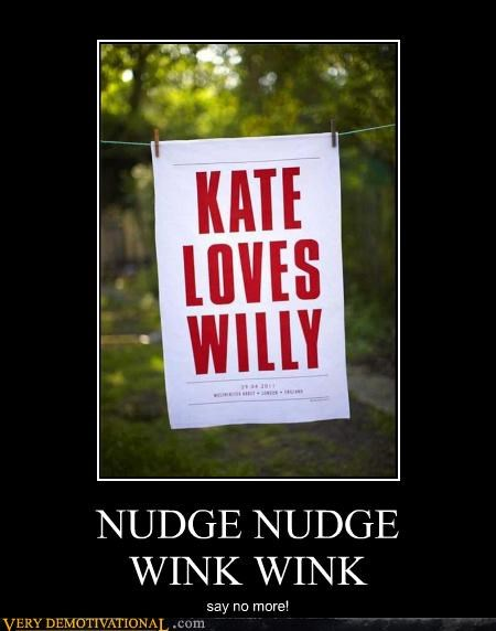 NUDGE NUDGE WINK WINK say no more!