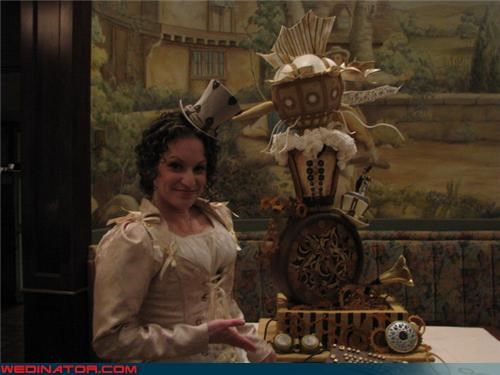 funny wedding photos Steampunk wedding cake - 4706852608