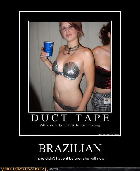 brazilian wax duct tape hilarious ouch - 4706950656