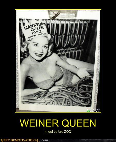 WEINER QUEEN kneel before ZOD