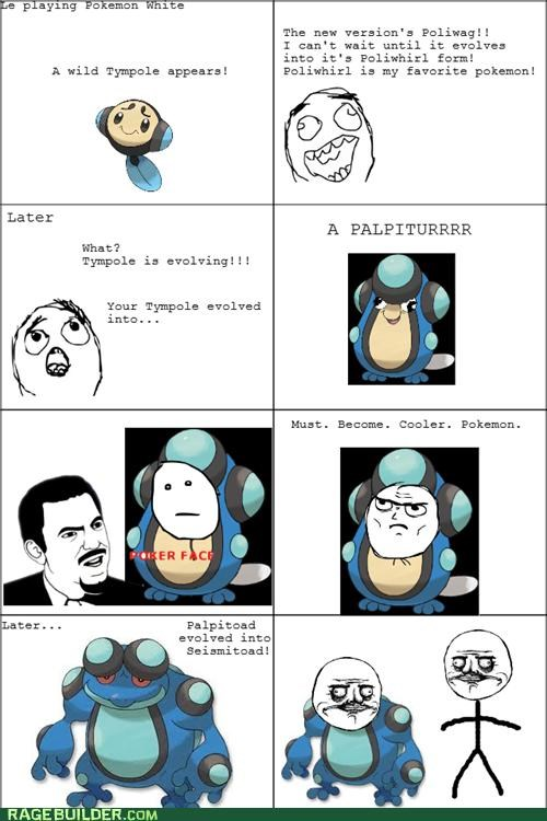 evolving Pokémon Rage Comics toad tympole - 4707008256