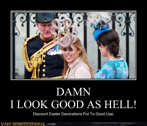 decorations,easter,hats,hilarious,royal wedding,silly