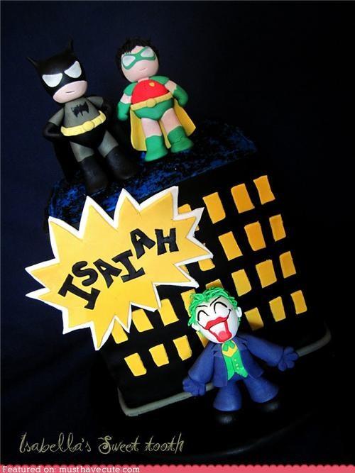 batman cake fondant isaiah joker picute robin - 4707106304
