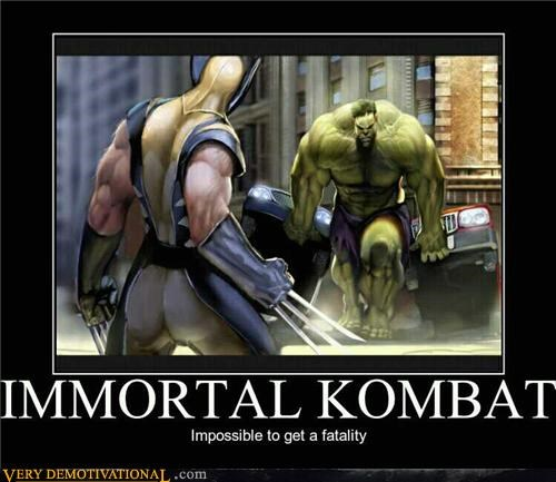 comics hilarious hulk immortal Mortal Kombat video games wolvering - 4707130880