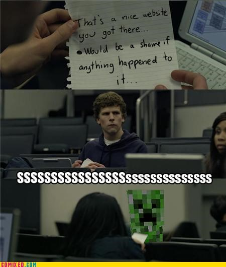 creeper,facebook,minecraft,social network