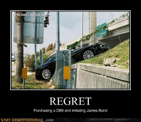 car db9,james bond,regret,Sad
