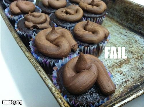 cupcakes failboat food frosting g rated poop
