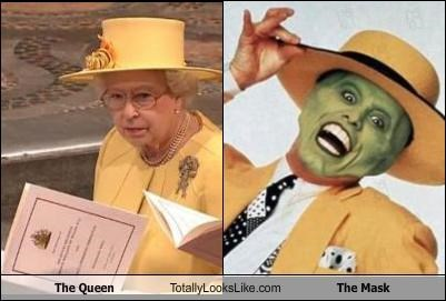 funny,jim carrey,queen elizabeth,the mask,TLL