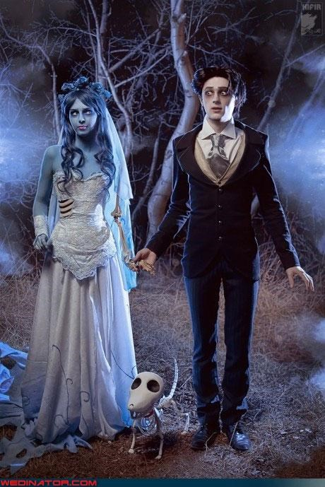 cosplay costume funny wedding photos the corpse bride