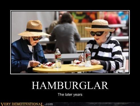 awesome hamburglar McDonald's old ladies - 4708283904
