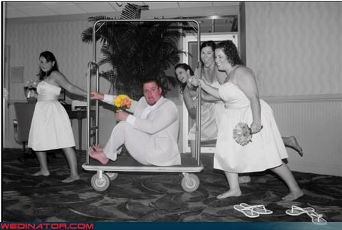 bridesmaids full color blush funny wedding photos hotel kidnap groom - 4708751104