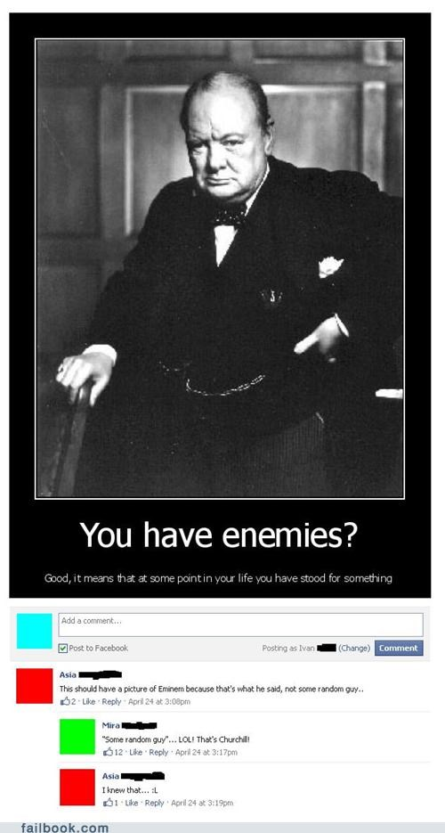winston churchill,quotes,FAIL,eminem