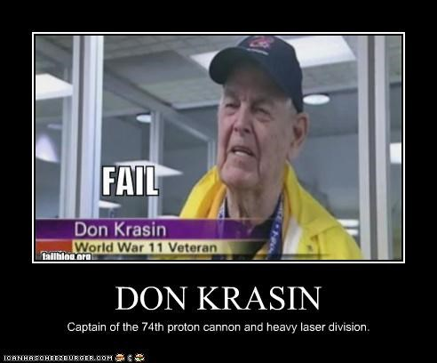 DON KRASIN Captain of the 74th proton cannon and heavy laser division.