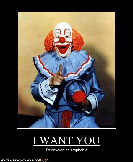clown color creepy demotivational funny Photo - 4710151680