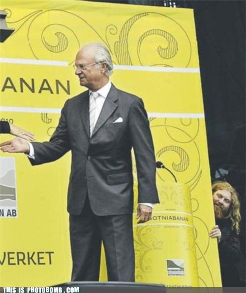 Swedish King gets photobombed