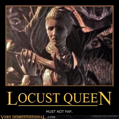 fapping locust queen video games wtf - 4710923264