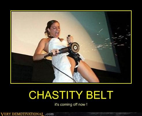 chastity belt,coming off,saw,sparks
