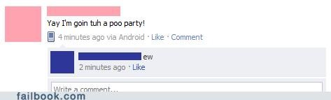 pool party poo spelling she wants the d