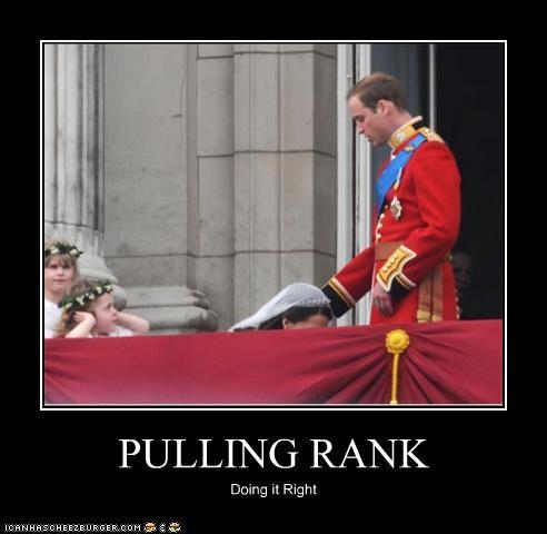 PULLING RANK Doing it Right