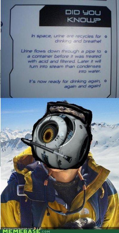 bear grylls drinking pee Portal space video games - 4712280064