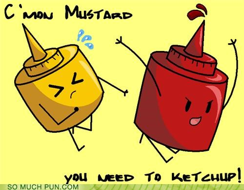 catch up condiments encouragement homophone ketchup literalism mustard similar sounding - 4712364032