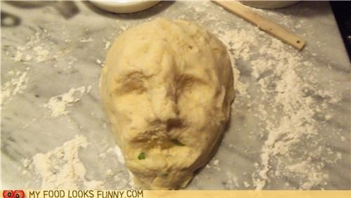 baking,bread,dough,head,molding,sculpture