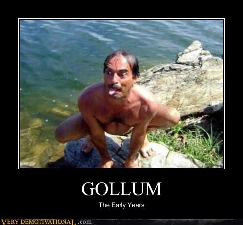 wtf gollum tom selleck guy weird