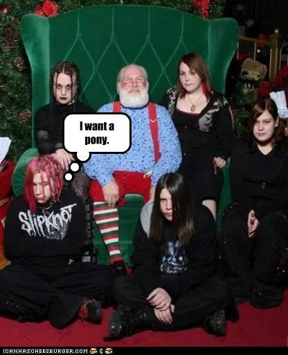 christmas,goth,pony,sad face,weird kid