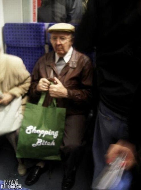 classic,mass transit,old people,shopping bag