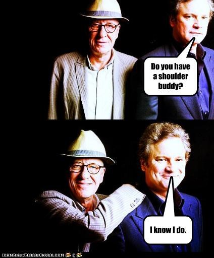 actor celeb Colin Firth funny Geoffrey Rush - 4713675776
