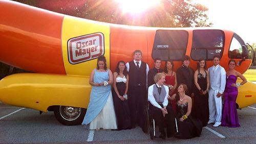 Ben Ross Best Prom Ever oscar mayer Wienermobile - 4713792768