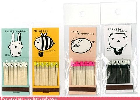 animals faces matchbooks matches printed - 4714909184