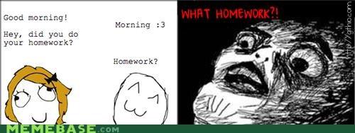 homework morning Rage Comics school wat - 4714988800