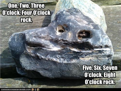 One, Two, Three O'clock, Four O'clock rock, Five, Six, Seven O'clock, Eight O'clock rock.