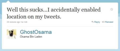 GhostOsama,Osama Bin Laden,Twitter Account