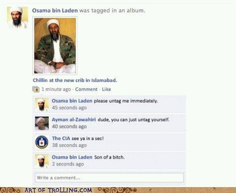 Chat Roulette,cia,facebook,fake and gray,osama,status