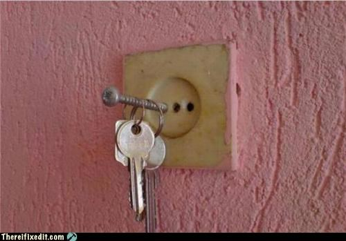 electricity,keys,outlet,shocking