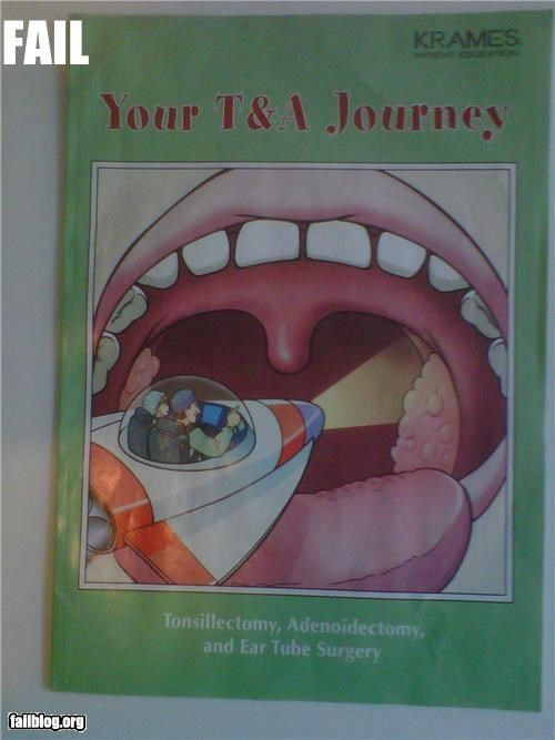 books facepalm failboat innuendo journey medical names pamphlet