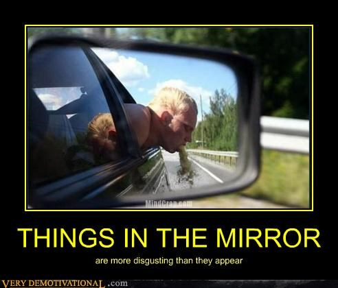 THINGS IN THE MIRROR are more disgusting than they appear