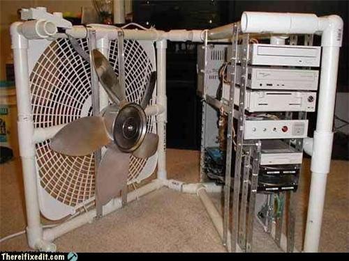computer case,fan,overkill,PVC