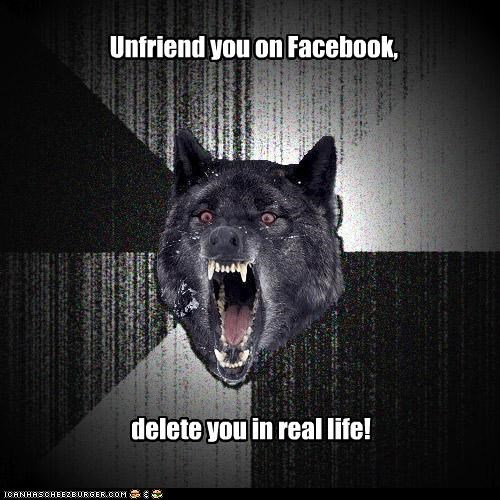 delete,facebook,Insanity Wolf,IRL,you sure