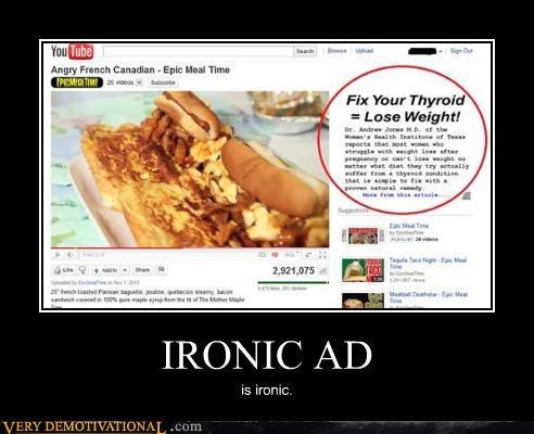 advertisement hilarious ironic youtube - 4717590528